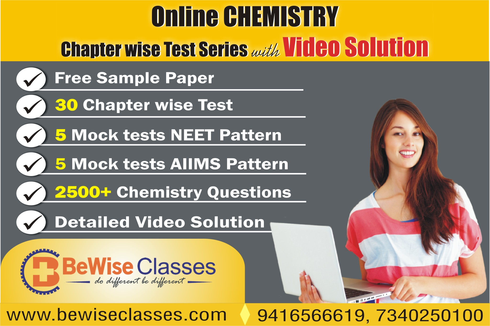 Chemistry Online Test Series (Chapter Wise) with Video Solution for NEET/AIIMS cover