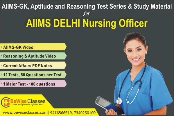 AIIMS Nursing Officer General Knowledge, Aptitude & Reasoning Test Series cover